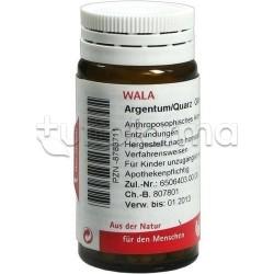 Wala Argentum Quarz Medicinale Omeopatico Globuli Velati 20g