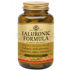 Solgar Ialuronic Formula Integratore Anti Invecchiamento 30 Tavolette