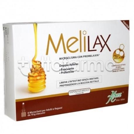 Aboca Melilax Adulti Microclismi 6 Pezzi da 10gr