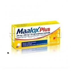 Maalox Plus Formato Convenienza 50 Compresse Masticabili per Acidità di Stomaco