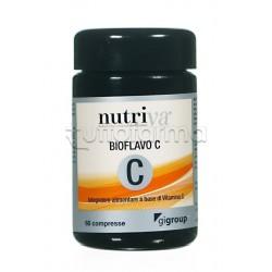 Nutriva Bioflavo C Plus Integratore Alimentare di Vitamina C 60 Compresse