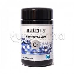 Nutriva Cromoval 200 Integratore Alimentare per Metabolismo 60 Compresse