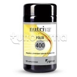 Nutriva Folix 400 Integratore Alimentare di Acido Folico 100 Compresse