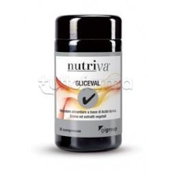 Nutriva Gliceval Integratore Alimentare per Metabolismo 30 Compresse