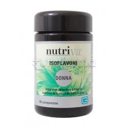 Nutriva Isoflavoni Donna Integratore Alimentare per Menopausa 50 Compresse
