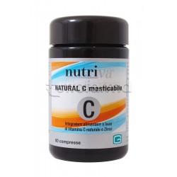 Nutriva Natural C Integratore Alimentare di Vitamina C e Zinco 60 Compresse