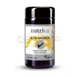 Nutriva Nutri-Bromelin Integratore Alimentare per Digestione 30 Compresse