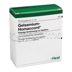 Gelsemium Homaccord Heel Guna 10 Fiale Medicinale Omeopatico 1,1ml