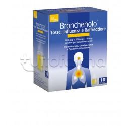 Bronchenolo Tripla Azione contro Tosse Influenza e Raffreddore 10 Bustine