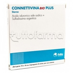 Connettivina Bio Plus 10 Garze Cicatrizzanti e Disinfettanti 10 x 10
