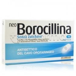 Neoborocillina 16 Pastiglie Senza Zucchero per Mal di Gola