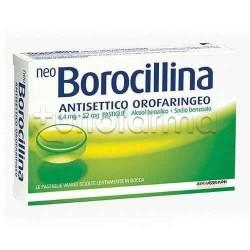 NeoBorocillina 16 Pastiglie 1,2 + 20 mg Gusto Menta per Mal di Gola