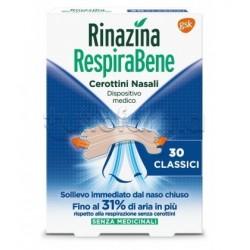 RespiraBene Cerotti Nasali Classici Adulti 30 Pezzi