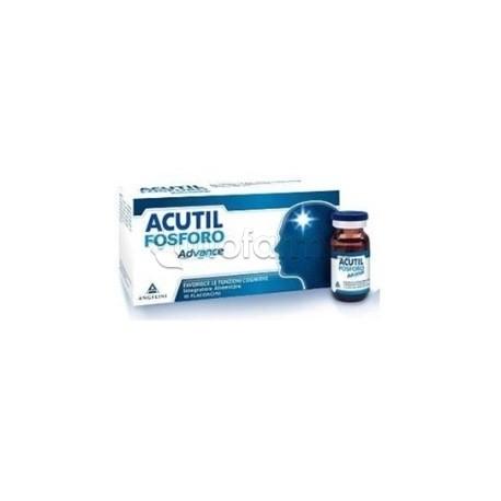 Acutil Fosforo Advance Integratore per Stanchezza Concentrazione 10 Flaconcini Bevibili
