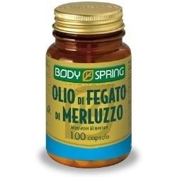Body Spring Olio Di Fegato Di Merluzzo Integratore Colesterolo 100 Capsule