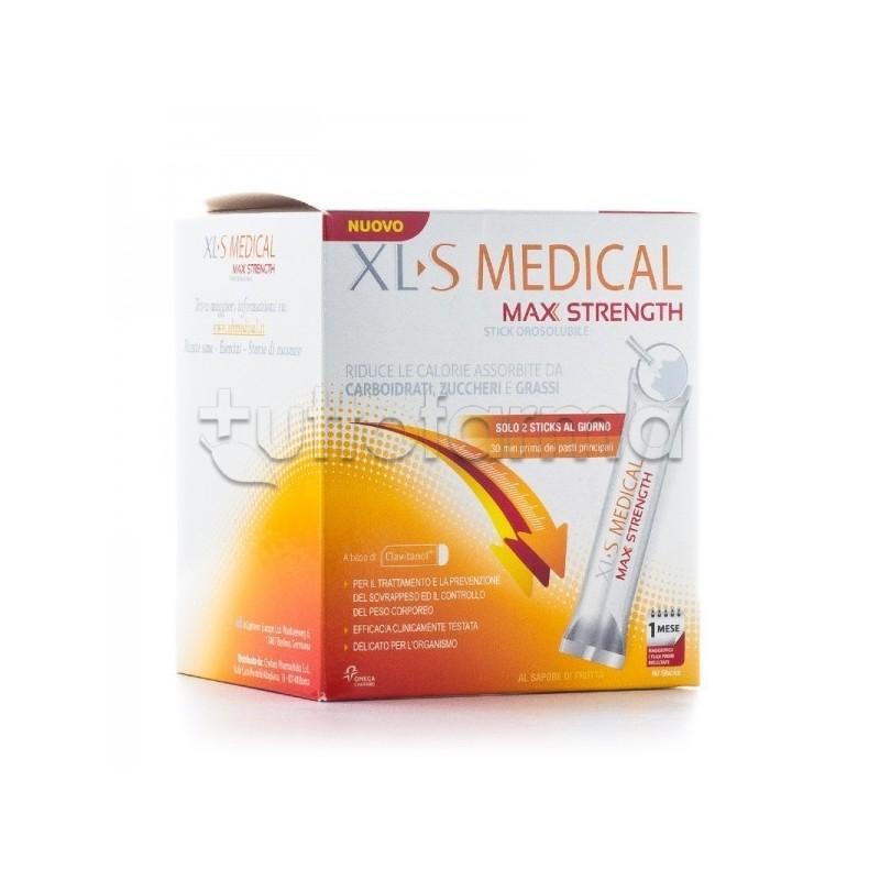 Xls Medical Max Strength Per Perdita Peso 60 Stick Orosolubili