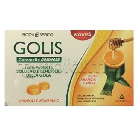 Golis Caramelle Gommose Gola Arancia e Miele 15 Pezzi