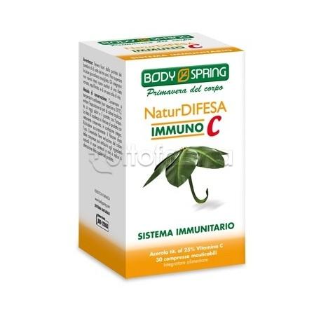 Body Spring NaturDifesa Immuno C Con Vitamina C 30 Compresse Masticabili