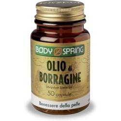 Body Spring Olio di Borragine Integratore Alimentare Benessere della Pelle 50 Capsule