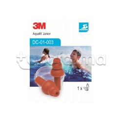 3M Aquafit Junior Kids Ear Plugs 1 pair
