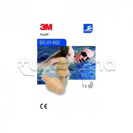 3M Aquafit Tappi Auricolari Adulti per Attività Acquatiche 1 Paio