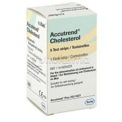 Accutrend Cholesterol Controllo Colesterolo 5 Strisce Reattive