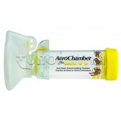 Aerochamber Plus Maschera per Aerosol Pediatrica Bambini da 1 a 5 Anni