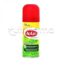 Autan Tropical Spray Secco Antizanzare Tropicali 100 ml