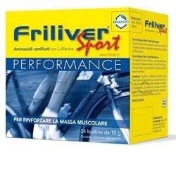 Friliver Sport Performance Integratore Sforzo Fisico 24 Bustine Amminoacidi  Ramificati + Alanina 5f72d1ae8e5f