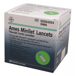 Bayer Ames Minilet 200 pezzi Lancetta Pungidito Codice 5966