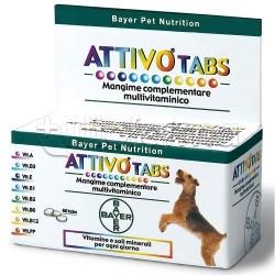 Bayer Attivo Tabs Integratore Multivitaminico Cani 60 Compresse