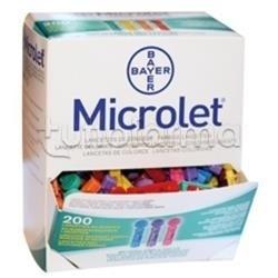 Bayer Microlet Lancette Pungidito Colorate Per La Misurazione Della Glicemia 200 Lancette