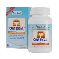 Guna Omega Formula Integratore Alimentare per Abbassare Colesterolo 80 Capsule