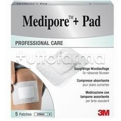 MEDICAZIONE MEDIPORE+PAD 10X10CM 5PEZZI