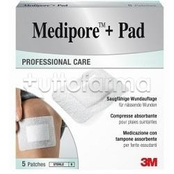MEDICAZIONE MEDIPORE+PAD 10X15CM 5PEZZI