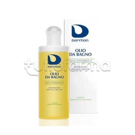 Dermon olio da bagno vitamina e emolliente 200 ml tuttofarma for Bagno d olio