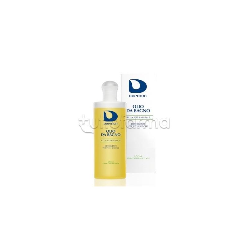 Dermon olio da bagno vitamina e emolliente 200 ml tuttofarma - Olio da bagno dermon ...