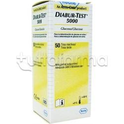 Diabur Test 5000 Glicosuria Verifica Glucosio Urine 50 Strisce Reattive