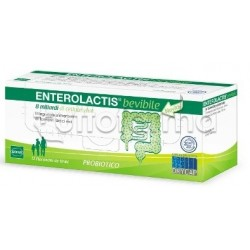 Enterolactis Integratore con Fermenti Lattici Vivi 12 Flaconcini 10 ml