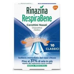 Respirabene Cerottini Nasali Classici Adulti 10 Pezzi