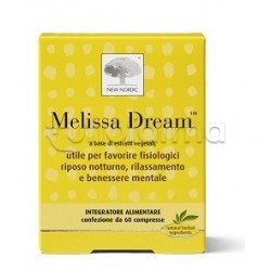 New Nordic Melissa Dream Integratore per Sonno e Relax 60 Compresse