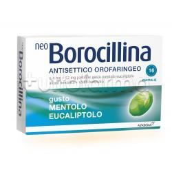 Neoborocillina Antisettico Orofaringeo 16 Pastiglie Menta per Mal di Gola