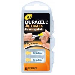 Duracell Batterie Apparecchio Acustico 10 6 batterie
