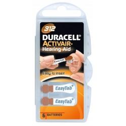 Duracell Batterie Apparecchio Acustico 312 Extra Durata