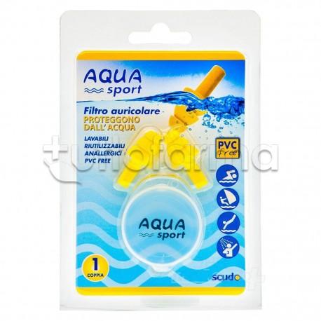 Earplug Aquasport Tappi Auricolari Adulto 2 Pezzi