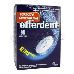 Efferdent Anti Batterico Per dentiere Effervescente 90 Compresse