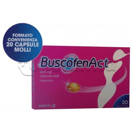 BuscofenAct per Dolori Mestruali Formato Convenienza 20 Capsule Molli 400mg