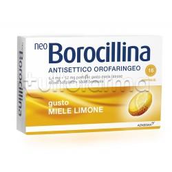 Neoborocillina Antisettico Orofaringeo 16 Pastiglie Miele per Mal di Gola