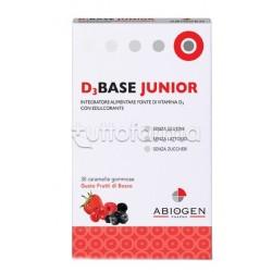 D3Base Junior Integratore con Vitamina D3 30 Caramelle Gusto Arancia