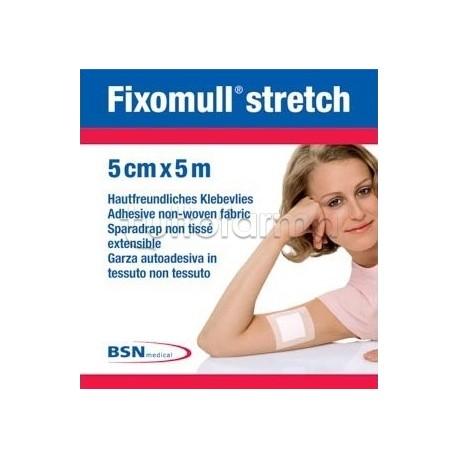 Fixomull Stretch Garza Autoadesiva 5 m x 5 cm